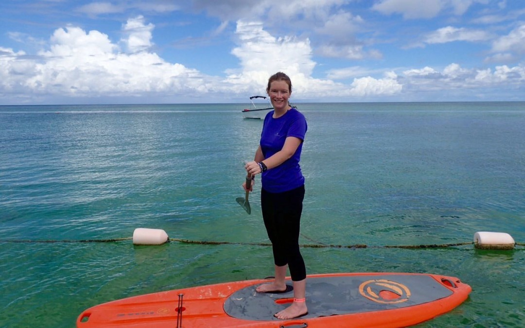 Mother and Daughter Learn to Stand Up Paddle